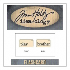 Advantus Idea-ology Elementary Mini Flash Card Play and Brother by Tim Holtz