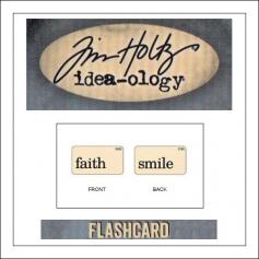 Advantus Idea-ology Elementary Mini Flash Card Faith and Smile by Tim Holtz