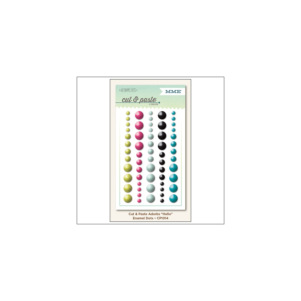 My Minds Eye Enamel Dots Adorbs Hello Cut and Paste Collection by Jen Allyson