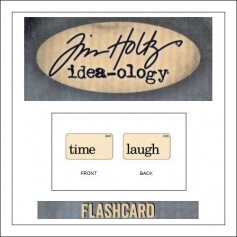Advantus Idea-ology Elementary Mini Flash Card Time and Laugh by Tim Holtz