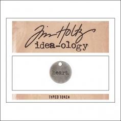 Advantus Idea-ology Typed Token Heart by Tim Holtz