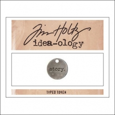 Advantus Idea-ology Typed Token Story by Tim Holtz