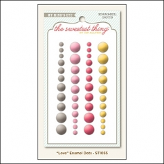 My Minds Eye Enamel Dots Honey Love The Sweetest Thing Collection by Jen Allyson