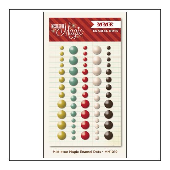 My Minds Eye Enamel Dots Mistletoe Magic Collection