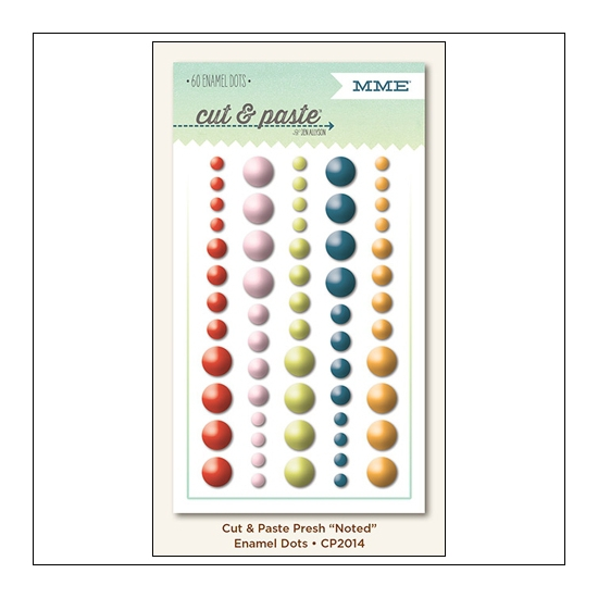 My Minds Eye Enamel Dots Presh Noted Cut and Paste Collection by Jen Allyson