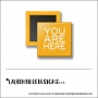 Scrapbook and More 1 inch Square Flair Badge Button Orange You Are Here by Lauren Hooper - Lauren Likes Designs