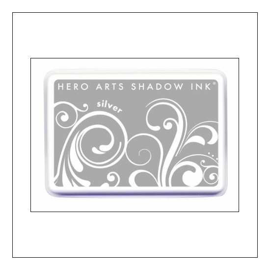 Hero Arts Ombre Ink Pad Shadow Ink Pad Silver