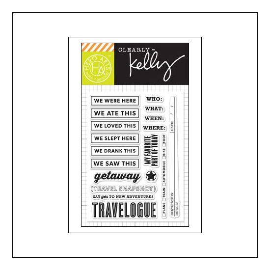 Hero Arts Kellys New Adventures Clear Stamps Clearly Kelly Collection by Kelly Purkey