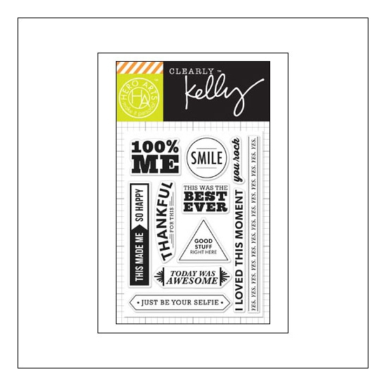 Hero Arts Kellys 100 Percent Me Clear Stamps Clearly Kelly Collection by Kelly Purkey