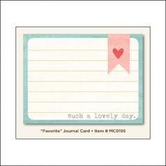 My Minds Eye Journal Card Dolled Up Favorite Miss Caroline Collection