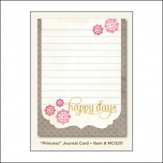 My Minds Eye Journal Card Dolled Up Princess Miss Caroline Collection