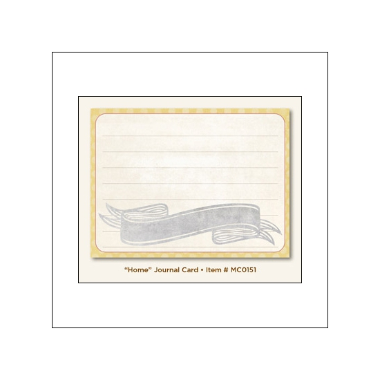 My Minds Eye Journal Card Fiddlesticks Home Miss Caroline Collection