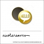 Scrapbook and More 1 inch Round Flair Badge Button Gold Foil Hello Speech Bubble by Nicole Reaves