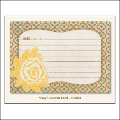 My Minds Eye Journal Card Nutmeg Boy Indie Chic Collection