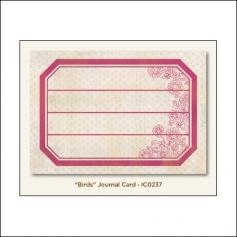 My Minds Eye Journal Card Saffron Birds Indie Chic Collection