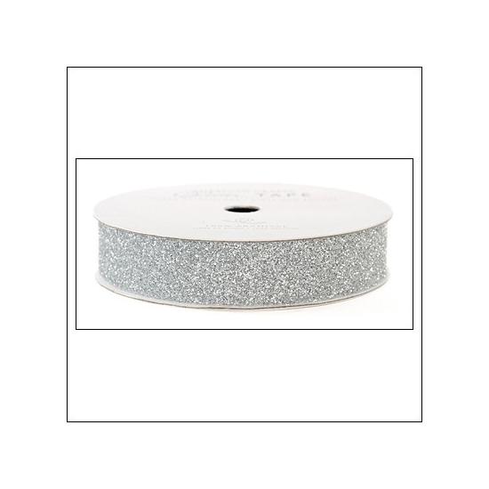 "American Crafts Glitter Tape Silver 3/8"""