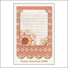 My Minds Eye Journal Card Saffron Dreams Indie Chic Collection