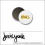 Scrapbook and More 1 inch Round Flair Badge Button White Gold Foil Rad by Jodie York Polka Dot Creative