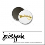 Scrapbook and More 1 inch Round Flair Badge Button White Gold Foil Wednesday by Jodie York Polka Dot Creative