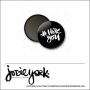 Scrapbook and More 1 inch Round Flair Badge Button Black Hashtag I Love You by Jodie York Polka Dot Creative