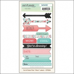 My Minds Eye Label Stickers Flair Wow Cut and Paste Collection by Jen Allyson