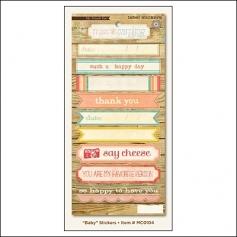 My Minds Eye Label Stickers Howdy Doody Baby Miss Caroline Collection by Jen Allyson