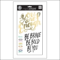 Me and My Big Ideas Clear Sticker Sheet Big Words Gold Foil Be You