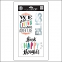 Me and My Big Ideas Clear Sticker Sheet Big Words Silver Foil Think Happy Thoughts