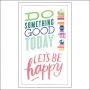 Me and My Big Ideas Clear Sticker Sheet Big Words Think Happy Thoughts