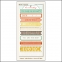 My Minds Eye Label Stickers Tangerine Happy The Sweetest Thing Collection