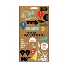 Me and My Big Ideas Mambi Sticks Paper Stickers Sheet We Are On Vacation