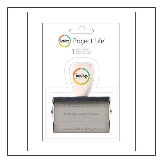 American Crafts Project Life Rotary Roller Phrase Stamp by Becky Higgins