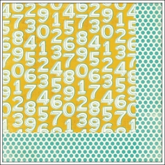 My Minds Eye Paper Sheet Playful Number Out of the Blue Lime Twist Collection