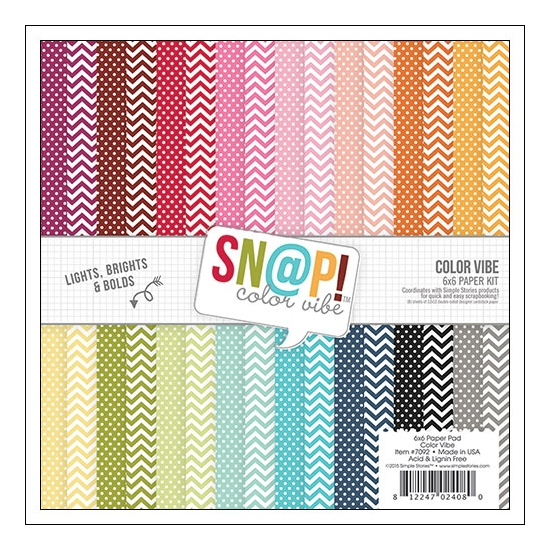 Simple Stories Paper Pad 6x6 inches Snap Color Vibe II Collection