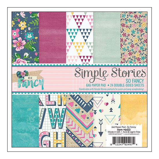 Simple Stories Paper Pad 6x6 inches So Fancy Collection