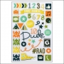 Simple Stories Clear Color Stickers So Rad Collection