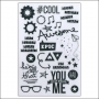 Simple Stories Clear Grey Stickers So Rad Collection