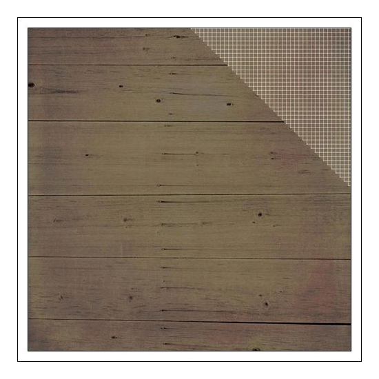 Simple Stories Paper Sheet Simple Basics Brown Wood and Grid Summer Vibes Collection