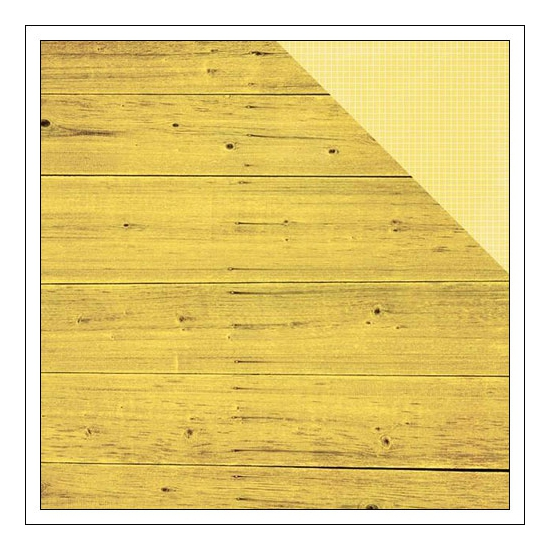 Simple Stories Paper Sheet Simple Basics Yellow Wood and Grid Summer Vibes Collection