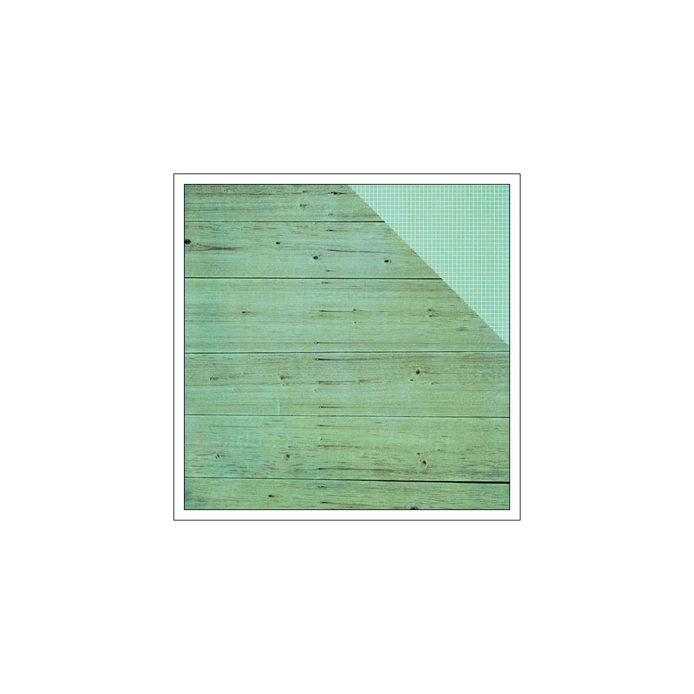 Simple Stories Paper Sheet Simple Basics Teal Wood and Grid Summer Vibes Collection