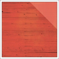 Simple Stories Paper Sheet Simple Basics Red Wood and Grid Summer Vibes Collection