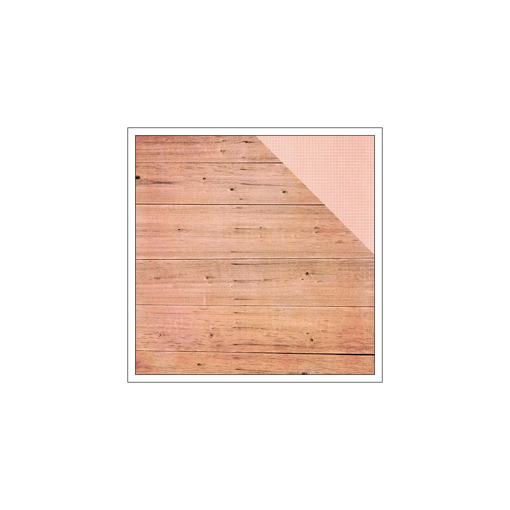 Simple Stories Paper Sheet Simple Basics Pink Wood and Grid Summer Vibes Collection