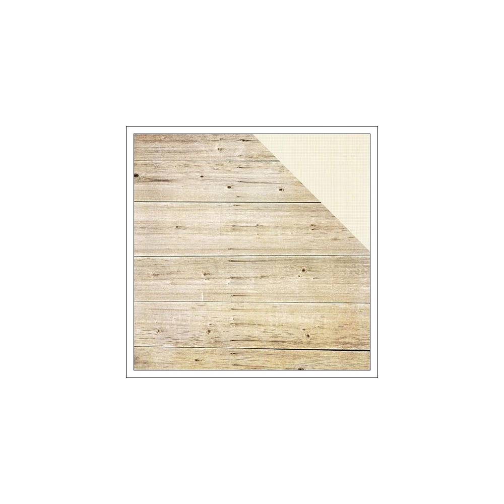 Simple Stories Paper Sheet Simple Basics White Wood and Grid Summer Vibes Collection