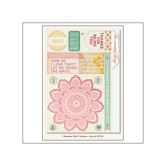 My Minds Eye Stickers Lavender Reasons Why The Sweetest Thing Collection by Jen Allyson