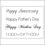 Kaisercraft Clear Stamps Occasions