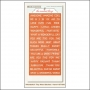 My Minds Eye Tiny Word Stickers Tangerine Wonderful The Sweetest Thing Collection