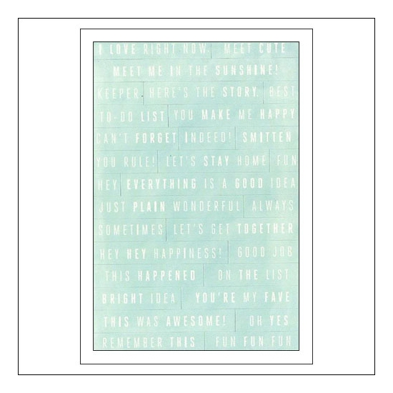 American Crafts Remarks Phrase Stickers Rise and Shine Collection by Amy Tangerine