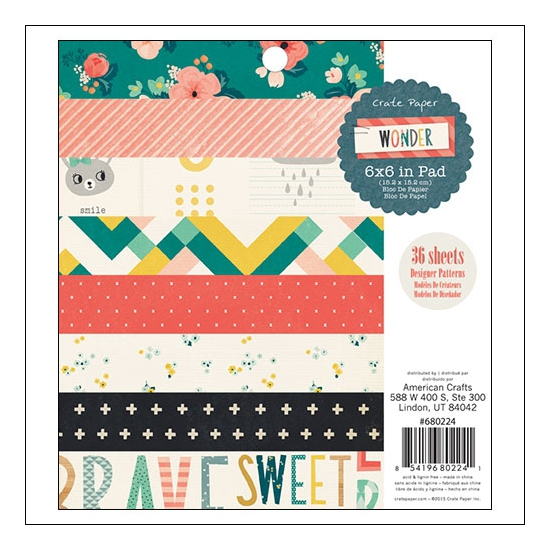 Crate Paper Paper Pad 6x6 inches Wonder Collection