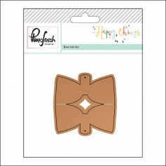 Pinkfresh Studio Bow Tab Die Happy Things Collection