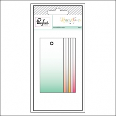 Pinkfresh Studio Ombre Fabric Tags Happy Things Collection